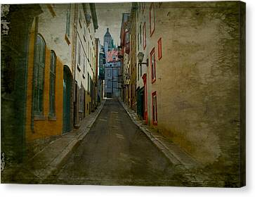 Quebec City French Street Scene Fine Art Photograph Print Canvas Print