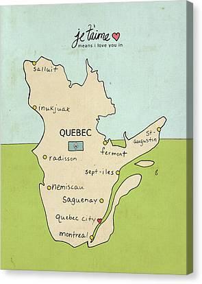 Quebec Canvas Print by Lisa Barbero