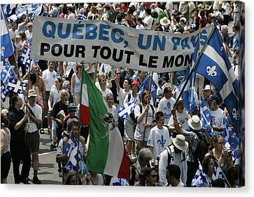 Independance Canvas Print - Quebec National Holliday by Pierre Roussel