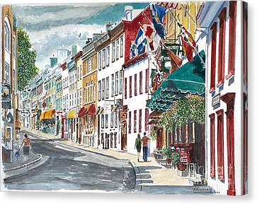 Quebec Old City Canada Canvas Print by Anthony Butera