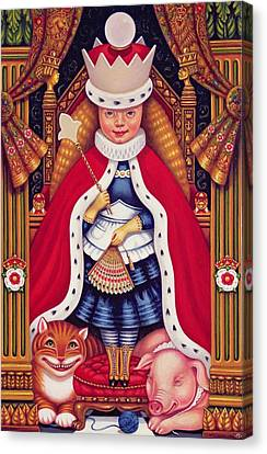 Cheshire Cat Canvas Print - Queen Alice, 2008 Oil And Tempera On Panel by Frances Broomfield