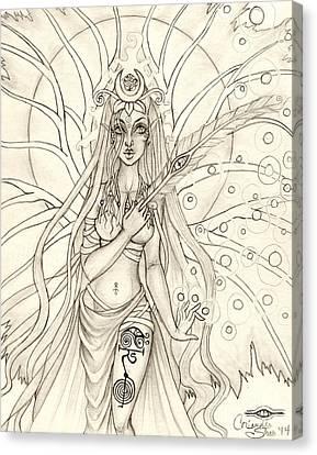 Queen Altheia Canvas Print by Coriander  Shea