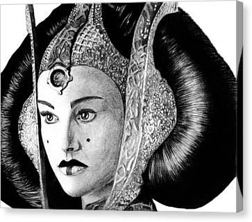 Jewels Canvas Print - Queen Amidala by Kayleigh Semeniuk