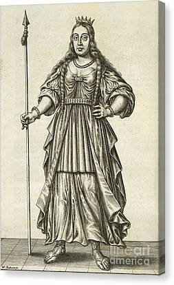 Queen Boudicca, British Iceni Ruler Canvas Print by British Library