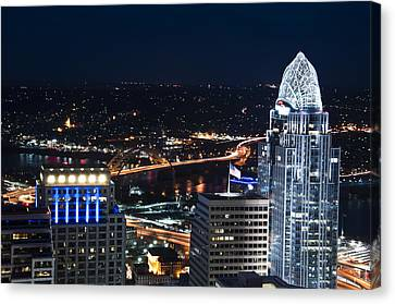 Queen City At Night Canvas Print by Russell Todd