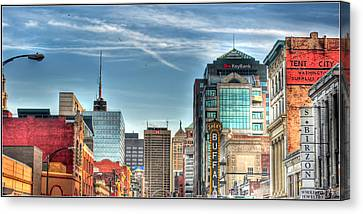 Queen City Downtown Canvas Print