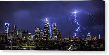 Queen City Strike Canvas Print by Chris Austin
