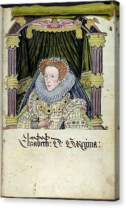 Queen Elizabeth I Canvas Print by British Library