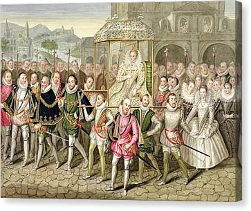 Queen Elizabeth I In Procession Canvas Print by Sarah Countess of Essex