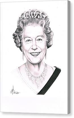 Queen Canvas Print - Queen Elizabeth by Murphy Elliott