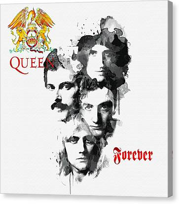 Queen Forever Canvas Print by Don Kuing