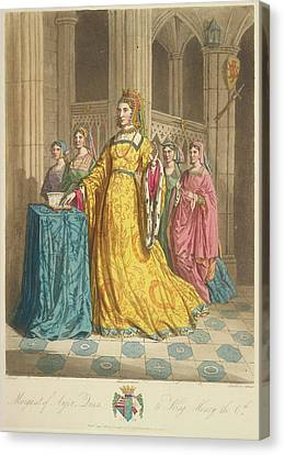 Queen Margaret Of Anjou Canvas Print by British Library