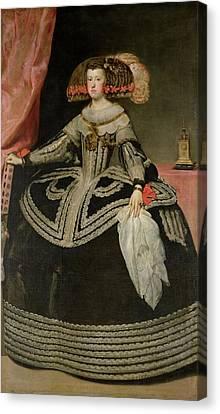 Queen Maria Anna Of Austria 1634-96, C. 1652 Oil On Canvas Canvas Print by Diego Rodriguez de Silva y Velazquez