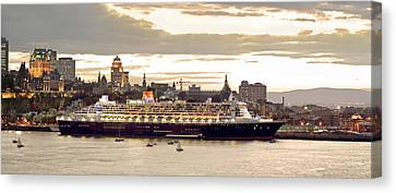 Queen Mary II Cruise Ship, Chateau Canvas Print by Jean Desy