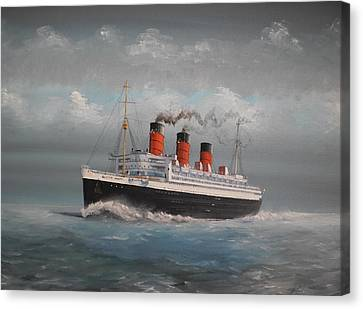 Queen Mary Canvas Print by James McGuinness