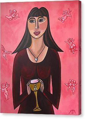 Queen Mary Magdalene - Grail Secrets Canvas Print