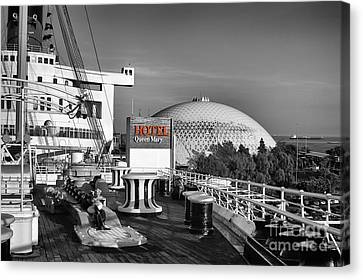 Queen Mary On Deck Canvas Print by Mariola Bitner