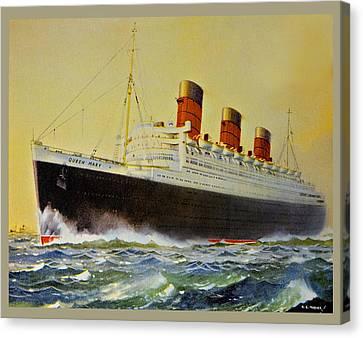 Queen Mary Postcard Canvas Print by Susan Leggett
