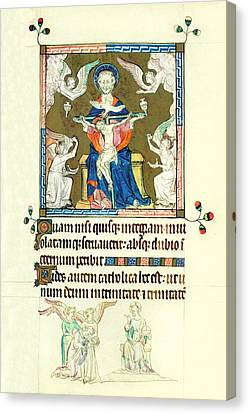 Queen Marys Psalter Trinity Canvas Print by Anonymous