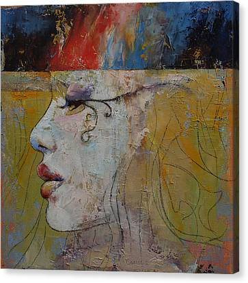 Girl Profile Canvas Print - Queen by Michael Creese