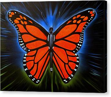 Queen Monarch Canvas Print by RJ McNall
