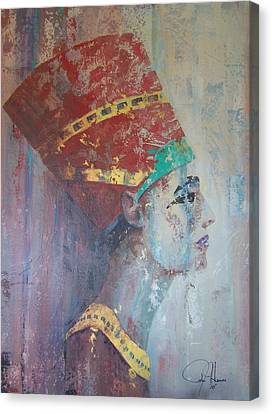 Pallet Canvas Print - Queen Nefertiti by John Henne