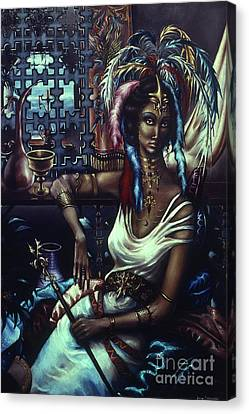 Queen Of Atlantis Canvas Print by Jane Whiting Chrzanoska