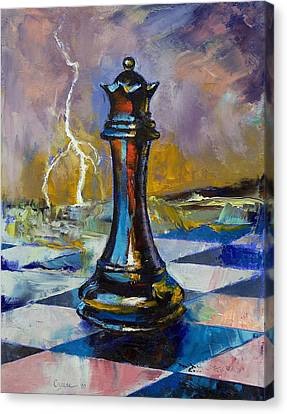 Queen Of Chess Canvas Print by Michael Creese
