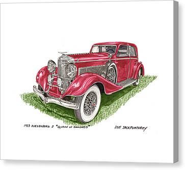 Masterful Canvas Print - Queen Of Diamonds 1933 Duesenberg Model J by Jack Pumphrey