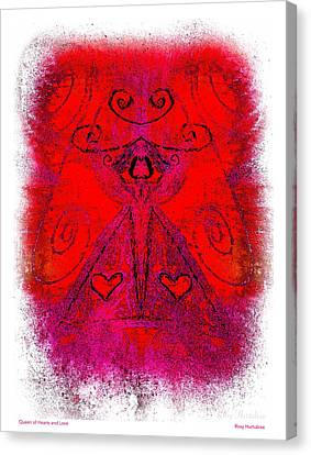 Queen Of Hearts And Love Canvas Print by Roxy Hurtubise
