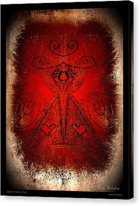 Queen Of Hearts Aura Canvas Print by Roxy Hurtubise