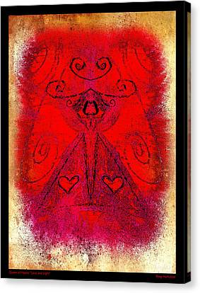Queen Of Hearts Love And Light Canvas Print by Roxy Hurtubise