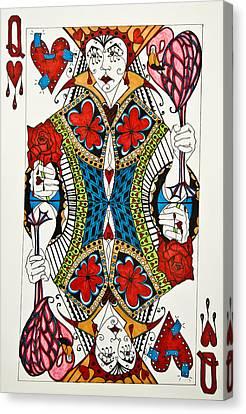 Heartbreaker Canvas Print - Queen Of Hearts - Wip by Jani Freimann