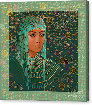 Middle East Canvas Print - Queen Of Lost Language by Jean Marie Bowcott