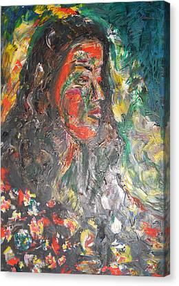 Queen Of Sheba Canvas Print by Esther Newman-Cohen