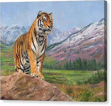 Queen Of Siberia Canvas Print by David Stribbling