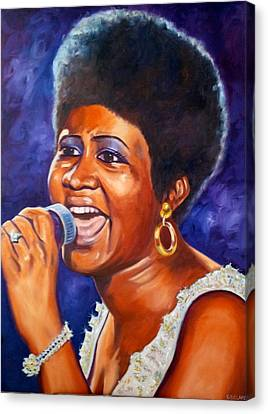 Queen Of Soul Canvas Print by Christina Clare