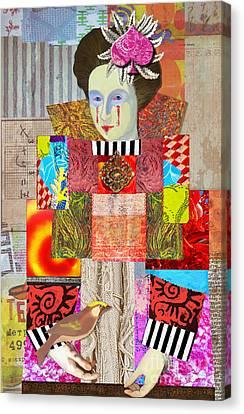 Queen Of Spades Canvas Print by Elena Nosyreva