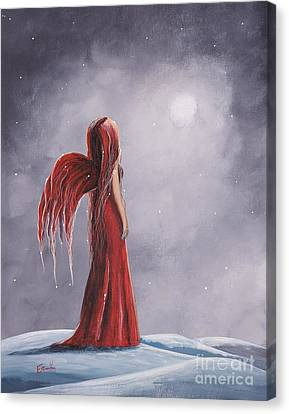 Queen Of The Winter Nights By Shawna Erback Canvas Print by Shawna Erback
