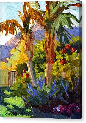 Canary Canvas Print - Queen Palms by Diane McClary