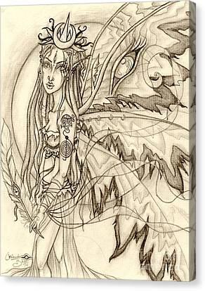 Queen Rhiannon Canvas Print by Coriander  Shea