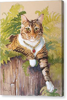 Queen Ruby Cat Canvas Print by Tracie Thompson
