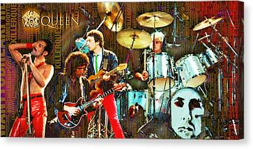 Celebrity Canvas Print - Queen by Tony Rubino