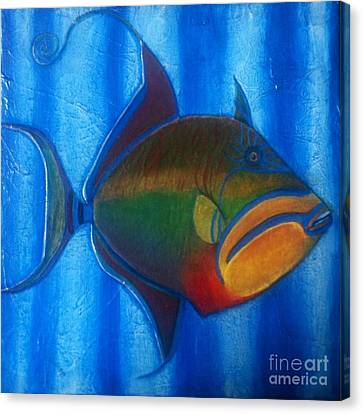 Queen Triggerfish  1 Canvas Print
