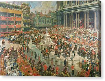 Queen Victorias Diamond Jubilee, 1897 Canvas Print by G.S. Amato