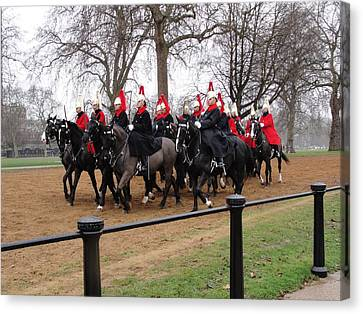 Canvas Print featuring the photograph Queen's Guard by Tiffany Erdman