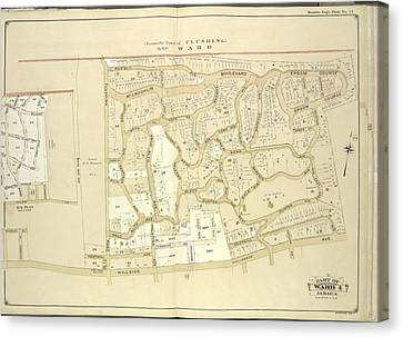 Queens, Vol. 1, Double Page Plate No. 13 Part Of Ward 4 Canvas Print by Litz Collection