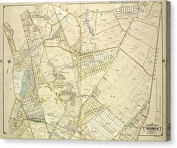 Country Roads Canvas Print - Queens, Vol. 1, Double Page Plate No. 18 Part Of Ward 4 by Litz Collection