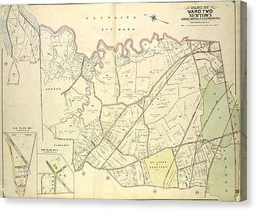 Queens, Vol. 2, Double Page Plate No. 28 Part Of Ward Two Canvas Print