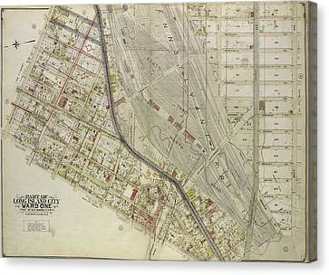 Queens, Vol. 2, Double Page Plate No. 3 Part Of Long Island Canvas Print by Litz Collection